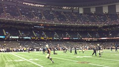 NOSaintswarmingup1 (MetrohicKS) Tags: football neworleans saints superdome metrohicks