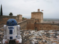 Of Droids and Fortresses (jpberba) Tags: travel spain action actionfigures r2d2 alhambra figures granda artoo toyphotography afaa