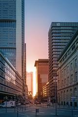 Frankfurt Streets (thorsten_fr) Tags: sunset tower japan skyline skyscraper frankfurt sony commerzbank a6000
