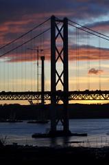 Forth Bridges Sunset (robert55012) Tags: bridge sunset scotland suspension fife forth queensferry forthroadbridge frb queensferrycrossing