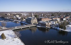 Carleton Place - bridge over the Mississippi (Rob Huntley Photography - Ottawa, Ontario, Canada) Tags: winter snow ontario canada river mississippi photography photo aerialview aerial photograph mississippiriver kap aerialphotography kiteaerialphotography aerialperspective carletonplace mississippiriverofthenorth mississippiofthenorth