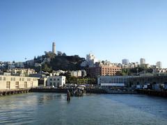 Embarcadero leaving for Alcatraz (dckellyphoto) Tags: sanfrancisco california coittower embarcadero sanfranciscobay 2008 sanfranscisco