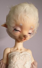 Work in Progress Iris (Eldurwen) Tags: iris sleeping ball asian doll dolls head lace feather deer fantasy wig bjd hoof pure abjd joint faun anthro joints hooves jointed balljointed faceup pamm arubi dollpamm