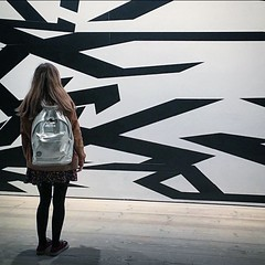 (rosie_needham1) Tags: blackandwhite white black london art shiny gallery arty artgallery tate metallic backpack kensington saatchi sloanesquare saatchilondon