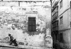 Street Sweeper (albireo 2006) Tags: blackandwhite bw window blackwhite malta pb nb bn shutters cleaner streetsweeper valletta louvres sweeper blackandwhitephotos blackwhitephotos valletta2018