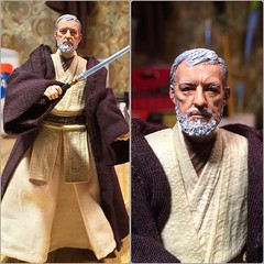 """Finally finished! Black Series 6"""" custom old Obi-Wan. (chevy2who) Tags: 6 black toy star action figure series wars custom hasbro obiwan blackseries sixinch customstarwars customblackseries starwarscustomobiwan"""