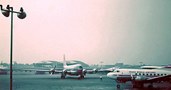 Chicago Midway Airport - Northwest Airlines - Boeing 377 (Stratocruiser) (twa1049g) Tags: chicago 1955 airport northwest boeing midway airlines 377 stratocruiser
