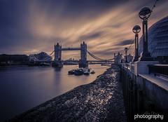 Tower Sky (Alex Chilli) Tags: longexposure morning bridge sky london tower 30 thames clouds sunrise river cityhall filter nd lunaphoto