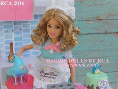 2016 Barbie baking fun (Barbie dolls by RCA) Tags: life kitchen cake set baking doll barbie gloria fancy rement bake 2016