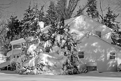 Day After Storm Jonas 17 - Snow House 2 (George - with over 2 mil views - THANKS) Tags: winter usa snow monochrome us blackwhite newjersey unitedstatesofamerica snowstorm january mercercounty ewing winterscene monochromephotography acdseepro suburbanscene photogeorge nikond750 winterstormjonas