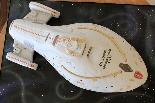 Star Trek Intrepid Ship Cake