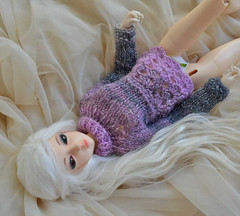 Lavender and grey (ceressiass) Tags: autumn winter cute scale promotion shop silver ball asian grey miniature sweater spring clothing knitting doll kei hand candy sale handmade top ooak pastel sewing 14 violet lavender sugar clothes collection size made fairy lolita lilac kawaii bjd etsy knitted abjd  msd sewed stretchy handknitted jointed promote ceress