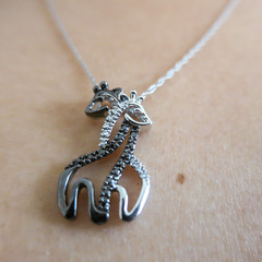 new necklace (jojoannabanana) Tags: love closeup diamonds square skin jewelry squareformat giraffes valentinesday canonpowershot s100 3662016