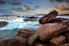 Rock Pool Overflow (FPL_2015) Tags: ocean sunset seascape water landscape rocks sydney australia northernbeaches northcurlcurl leefilter canon6d gnd09 canon1635f4lis