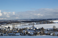 Winter (stopdead2012) Tags: houses sky snow clouds germany landscape roofs oberoelsnitz