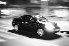 40/365 (goran1101) Tags: street blackandwhite bw blur monochrome car contrast speed 35mm movement nikon outdoor candid serbia motionblur belgrade panning fastcar blurrybackground d5100