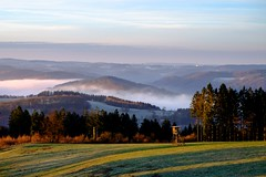 Fog in the Valley (elseyjetter) Tags: nature fog sunrise nebel nrw sonnenaufgang sauerland