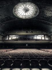 Empty Audience (danielritchiephoto) Tags: lighting old longexposure travel light shadow urban art abandoned broken window beautiful beauty lines architecture dark lost scary chair ruins theater shadows darkness chairs theatre pennsylvania decay empty explorer ghost wideangle indoor symmetry creepy adventure explore pa sombre forgotten urbanexploration fallen horror symmetrical haunting discarded grime seating filth exploration filthy ghostly somber derelict wrecked hdr haunt eastcoast darkphotography urbex grimy abandonedtheater lostplace beautyindecay abandonedporn