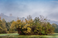 Lac des les (-MiDes-) Tags: autumn lake france southwest green nature water automne landscape lac couleur duckweed atumn sudouest hautegaronne midipyrnes d7100