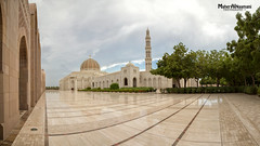 Sultan Qaboos Grand Mosque (mahernaamani) Tags: panorama art tourism beauty weather architecture canon wow amazing arch tour cloudy outdoor pano muslim islam prayer panoramas grand mosque tourist architect arab sultan oman qaboos salat muscat prayers masjid 6d    omani    24105mm       omantourism sultanqaboosgrandmosque     canon6d   outdoorgraphy