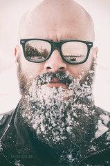 Ken Snowbeard (*KIKITA*) Tags: winter usa snow man reflection sunglasses beard utah headshot erickagiulianiphotography snowonbeard