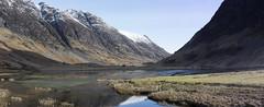 loch achtriochtan pano (Bowz999) Tags: snow mountains sunrise landscape bay scotland glencoe moor rannoch milarrochy