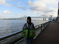 Bags of swag! (wallygrom) Tags: usa river louisiana neworleans mississippiriver mardigras riverwalk