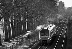 175002 1V36 0730 Manchester Piccadilly to Carmarthen at Cwmbran 30.01.2016 (The Cwmbran Creature.) Tags: train rail railway trains class british 175 marches