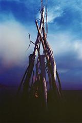 (a walk across the rooftops) Tags: beach nature clouds oregon 35mm fire coast kodak lofi bluesky coastal bonfire 400 ethereal portra underexposed 400asa underexposure exploregon aleceagon