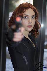 Don't Fire (gxle) Tags: portrait black canon eos rebel helsinki kiss cosplay natalia widow natasha avengers t3i x5 2016 romanova 600d alianovna rebelt3i kissx5 yukicon 2k16 yukicon2016