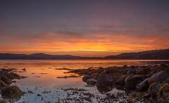 Reminiscing (Visible Landscape) Tags: uk sunset colour reflection golden scotland highlands twilight rocks calm tranquil gloaming inveralligin upperlochtorridon visiblelandscape