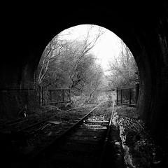 Monochrome (Jason_Hood) Tags: disused abandoned railway railroad tunnel dudley dudleytunnel owwr gwr blackcountry portal southstaffordshireline southstaffordshirerailway monochrome blackandwhite