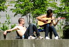outdoor concert (D G H) Tags: daveheston men male guitar outdoors park shirtless summer jeans city urban music streetphotography candid dgh
