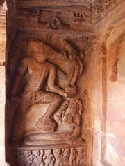 Varaha (Boar avatar of Vishnu) (Voyou Desoeuvre) Tags: india places badami