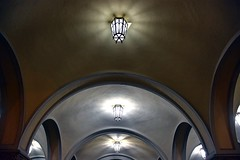 Lights (Irena Koroljova.) Tags: architecture night outside lights arch geometrical ital