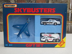 Vintage Matchbox Skybusters Gift Set Vought Corsair Police Car Nasa Boxed 1980's Retro Toy (beetle2001cybergreen) Tags: car set vintage toy police retro nasa gift corsair boxed 1980s matchbox vought skybusters