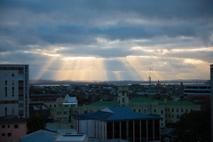 sun shines through (flyryd) Tags: new city sun clouds nikon shine full auckland zealand frame f28 2470mm d810
