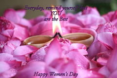 Behind every successful man is a woman who is getting ahead of him.  Three cheers to the woman of  tomorrow. Happy Women's Day (Chandana Witharanage) Tags: celebration lotusflowers coth5 happywomensday2016