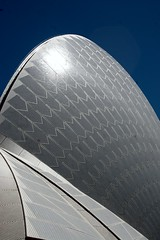 Shark Fin Architecture (Heaven`s Gate (John)) Tags: blue sky sunlight white art architecture shark sydney icon tiles sail imagination fin jornutzon sydneyoperahouse johndalkin heavensgatejohn