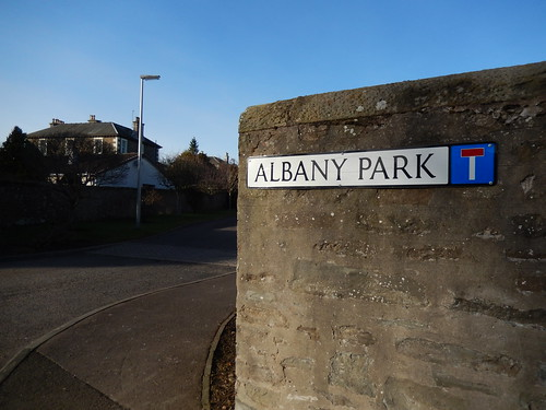 Sign for Albany Park, Broughty Ferry