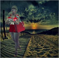 LooK 09# (Fabian50000) Tags: sunglasses pose hair necklace phone fb mandala piercing ring nails handbag anklet ryca taox fwfashion {h}queenz
