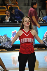 RADFORD CHEERLEADERS (SneakinDeacon) Tags: cheerleaders tournament campbell presbyterian radford highlanders bigsouth bluehose gorearena