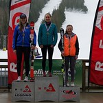 Red Mountain Fidelity BC Cup Slalom - Ladies' Overall Podium March 6 (left to right) Georgia Burgess, Emily Unterberger, Kristina Natalenko PHOTO CREDIT: Martin Tichy