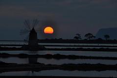 The last sunset (Explore) (salvatore benanti) Tags: sunset windmill tramonto mulino saltpan mothia salinetrapanipaceco