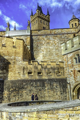 Hohenzollern Castle near to Hechingen (malioli) Tags: winter sky mountain snow tower castle water skyline clouds canon germany landscape deutschland europe fort outdoor citadel palace chateau stronghold fortress mystic hohenzollern