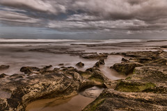 Easy Like Sunday Morning (BlueberryAsh) Tags: ocean longexposure beach clouds coast sand nikon rocks flickr surface oceangrove flickrgroup nikon24120 nikond750 barwonhaes