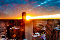 POWER OF SUNSET (RUSSIANTEXAN) Tags: light sunset sun tower skyscraper observation photography long exposure downtown texas sony houston deck flare chase rays morgan 60th anvar rx100 khodzhaev svetan