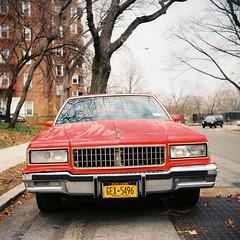 Chevy Caprice   Bronx (OQ62) Tags: nyc newyorkcity chevrolet 120 film analog mediumformat classiccar kodak bronx chevy 100 caprice yashicad ektar