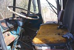 Let's go for a ride (D. Brigham) Tags: abandoned truck seat vehicle dashboard steeringwheel fallingapart waylandmass