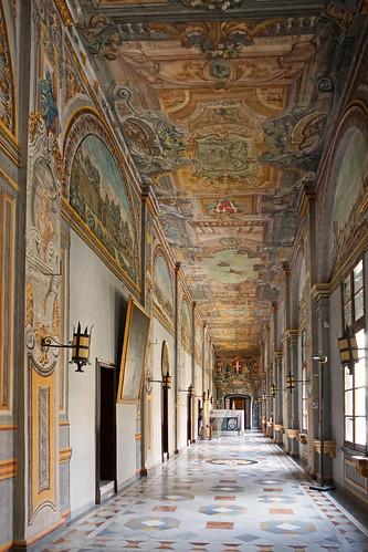 Le corridor du Palais des Grands-Maîtres (La Valette, Malte)